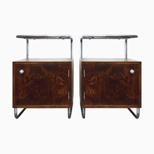 Nightstands by Rudolf Vichr for Vichr & Spol, 1930s, Set of 2