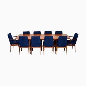 Teak Esstisch & Stühle Set von Robert Heritage für Archie Shine, 1960er, Set of 11