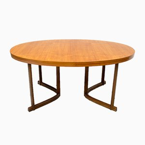 Mid-Century Danish Teak and Afromosia Extendable Dining Table