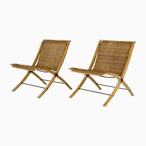 Lounge Chairs by Peter Hvidt & Orla Mølgaard-Nielsen for Fritz Hansen, 1950s, Set of 2