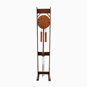 Reloj de pie Mid-Century enrollable, años 60