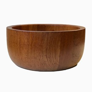 Large Mid-Century Danish Teak Bowl by Richard Nissen for Nissen, 1960s