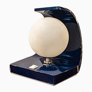 Italienische Space Age Tischlampe aus Aluminium & Glasfaser, 1970er