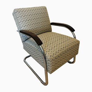 Bauhaus Tubular Steel Armchair from Mücke Melder, 1930s