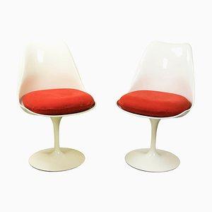 Sillas Tulip Mid-Century de Eero Saarinen, años 60. Juego de 2