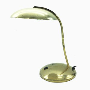 Bauhaus Style Brass Table Lamp, 1950s