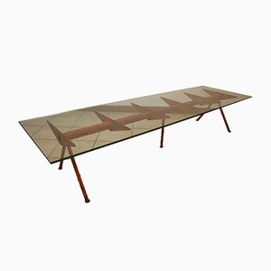 Large Coffee Table in the Style of Jean Prouvé, 1950s