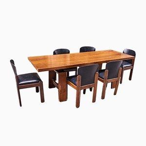 Table de Salle à Manger en Noyer par Silvio Coppola pour Bernini, Italie, 1960s