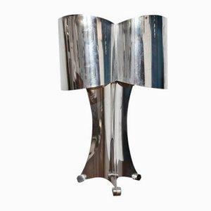 Mid-Century Edelstahl Tischlampe von Reggiani