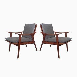Modell 563 Armlehnstühle aus Teak von Fredrik A. Kayser für Vatne Møbler, 1950er, 2er Set