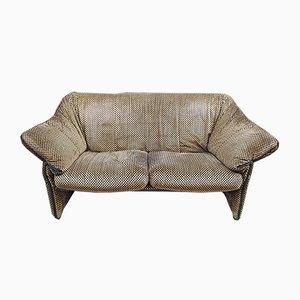2-Sitzer Samt Modell Le Stelle Sofas von Mario Bellini für B & B Italia / C & B Italia, 1974, 2er Set