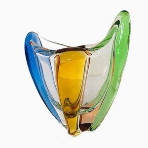 Mid-Century Czech Art Glass Rhapsody Vase by Frantisek Zemek for Mstisov, 1950s