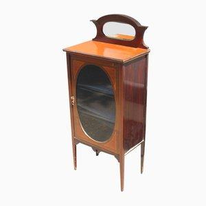 Antique Mahogany Music Cabinet, 1900s