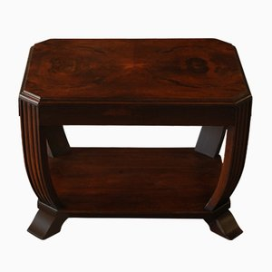 Art Deco Mahogany 2-Tier Side Table, 1920s