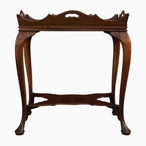 Queen Anne 2-stufiger Mahagoni Butlers Tisch mit Cabriole Beinen