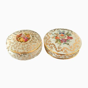 Porcelain Candy Boxes from Limoges, 1950s, Set of 2