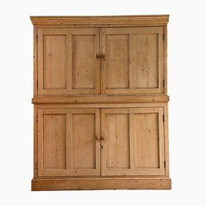 Antique Pine School Cupboard Pantry, 1920s