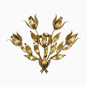Large Vintage Italian Gilt Sconce in the Style of Kögl, 1970s