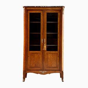Antikes französisches Bücherregal aus Echtholz, 1870er