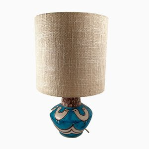 Mid-Century Italian Ceramic Table Lamp by Guido Gambone for Vietri