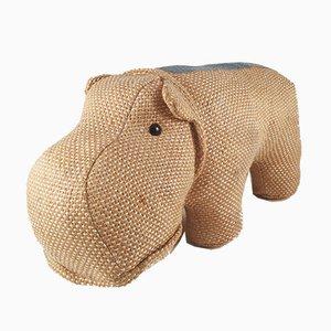 Juguete terapéutico vintage con forma de hipopótamo de Renate Müller