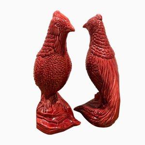 Vogel Skulpturen von Saint Clément, 1950er, 2er Set