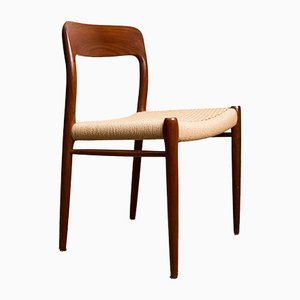 Danish Teak and Rope Model No. 75 Side Chairs by Niels Otto Møller for J.L. Møllers, 1960s, Set of 6