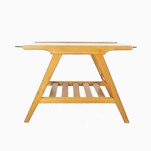 Tavolino da caffè in legno attribuito a Cesare Lacca, Italia, anni '50