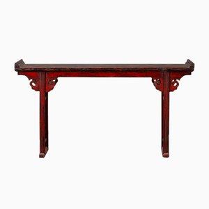 Tavolo antico con tavolo orientale laccato rosso