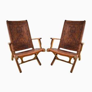 Folding Chairs by Angel I. Pazmino for Muebles de Estilo, 1960s, Set of 2