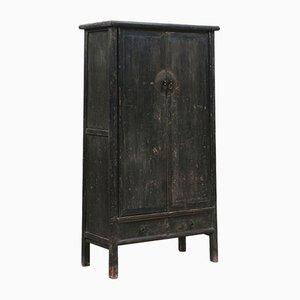 Antique Chinese Elm Tapered Armoire