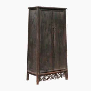 Antique Chinese Tapered and Carved Armoire