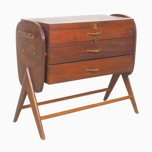 Danish Teak Sewing Box, 1950s