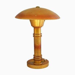 Lampe de Bureau UFO en Forme de Champignon UFO Art Déco, France, 1930s