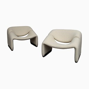 F598 Groovy Lounge Chairs by Pierre Paulin for Artifort, Netherlands, 1970s, Set of 2