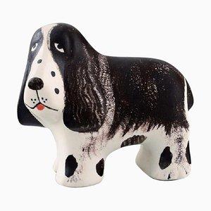 Basset Hound in Glazed Ceramic by Lisa Larson for K-Studion & Gustavsberg