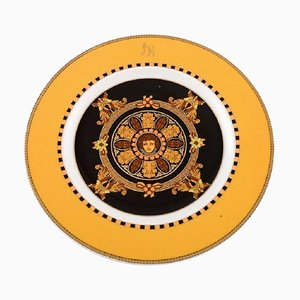 Barocco Porcelain Plate with Gold Decoration by Gianni Versace for Rosenthal