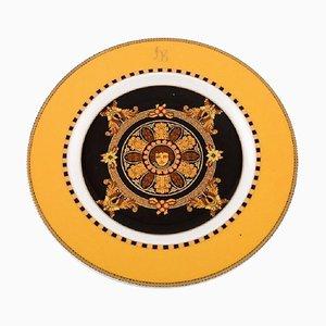 Goldfarbener Barocco Porzellanteller von Gianni Versace für Rosenthal