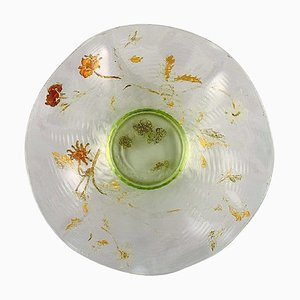 Antique Bowl in Mouth-Blown Art Glass by Emile Gallé, France