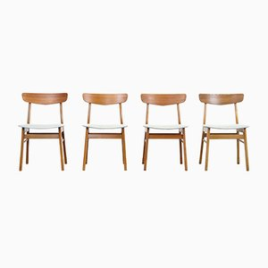 Danish Teak Dining Chairs from Farstrup, 1960s, Set of 4