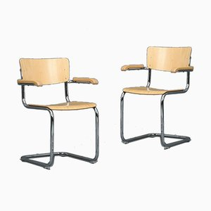 Bauhaus Beech S43F Cantilever Chair from Thonet