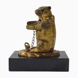 Antique Victorian Dancing Bear Desk Ornament