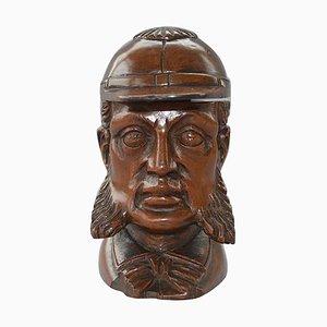 Antikes viktorianisches Tintenfass aus der Cricket-Skulptur