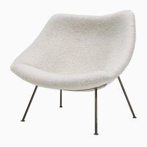 1st Edition F156 Little Oyster Lounge Chair in Pierre Frey by Pierre Paulin for Artifort, 1960s