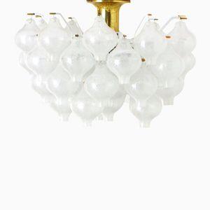 Tulipan Glass Chandelier by J.T. Kalmar for Kalmar