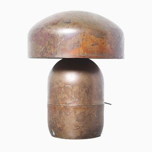 Lampe de Bureau Rouge en Cuivre