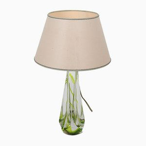 Mid-Century Dutch Glass Table Lamp by Kristalunie Maastricht