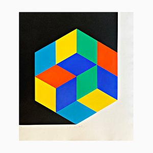 Silkscreen Limited Edition by Victor Vasarely, 1963