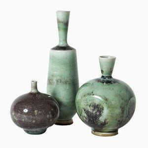 Vasen von Berndt Friberg für Gustavsberg, 1960er, 3er Set