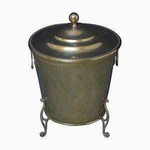 Antique Edwardian Brass Planter Coal Bucket